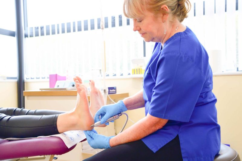 routine chiropody treatment in Cardiff
